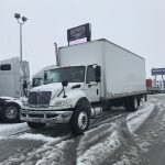 2012 INTERNATIONAL 4300 WITH 24FT DRY VAN DRY VAN WITH POWER TAIL GATE (H19017-1)